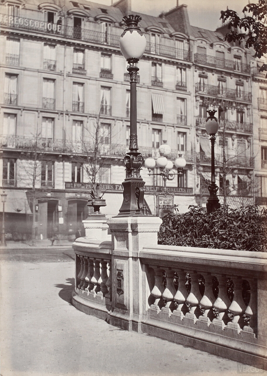 Газовый фонарь на Площади Искусств и ремесел. 1864