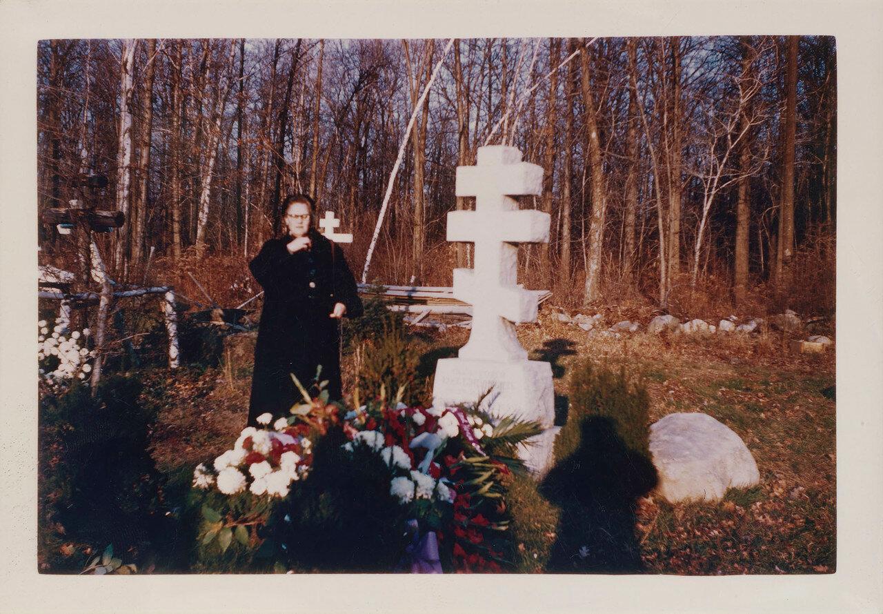 1970. Княгиня Вера Константиновна посетила могилу своего брата князя Георгия Константиновича