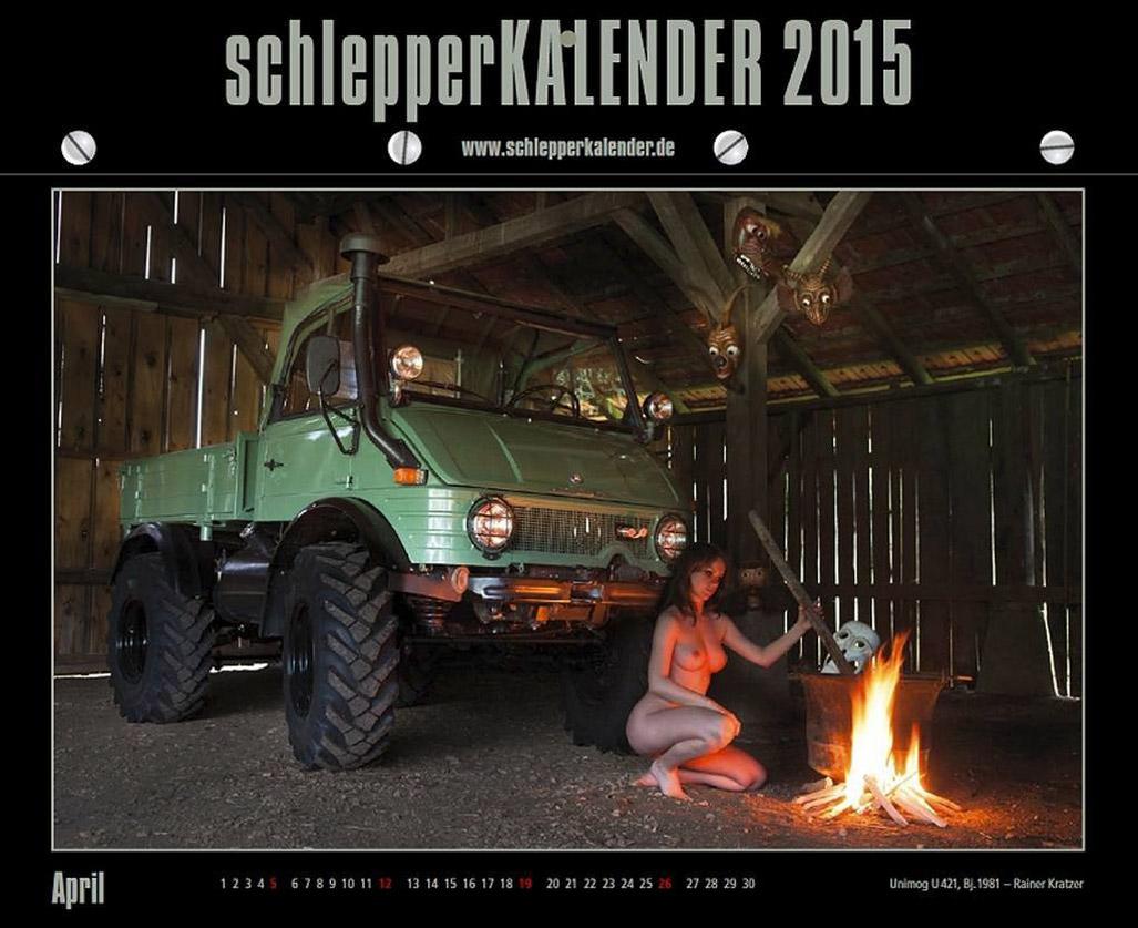Эротический календарь с тракторами и девушками / Schlepper 2015 kalender