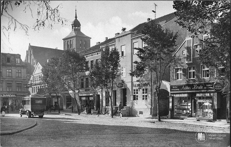 Велау  Знаменск Рыночная площадь 1927.jpg