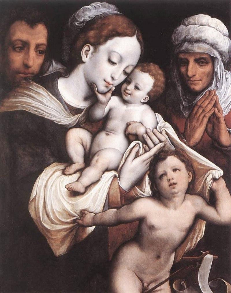 """Корнелис ван Клеве. """"Святое семейство"""""""