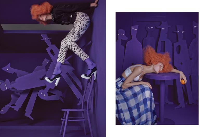 Александра Мартынова в майском Harper's Bazaar China