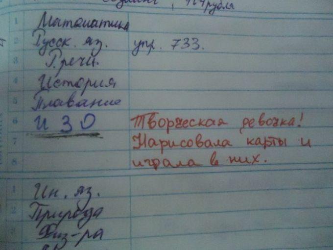 послания в дневниках