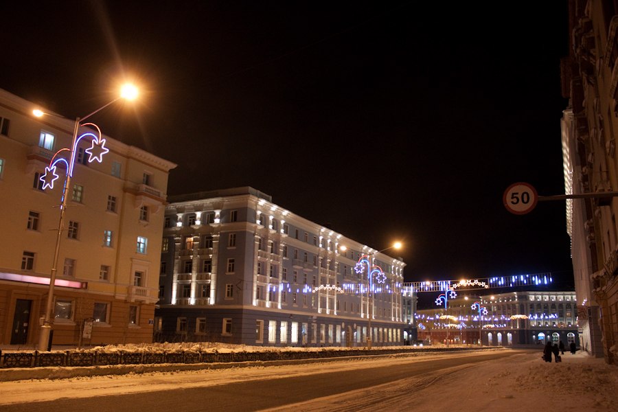 Ночной Норильск