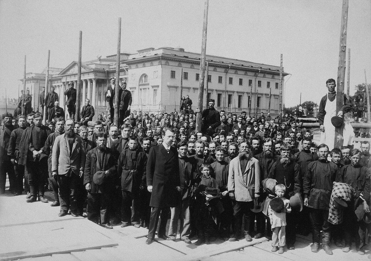 Закладка здания Этнографического отдела при музее Александра III 1900