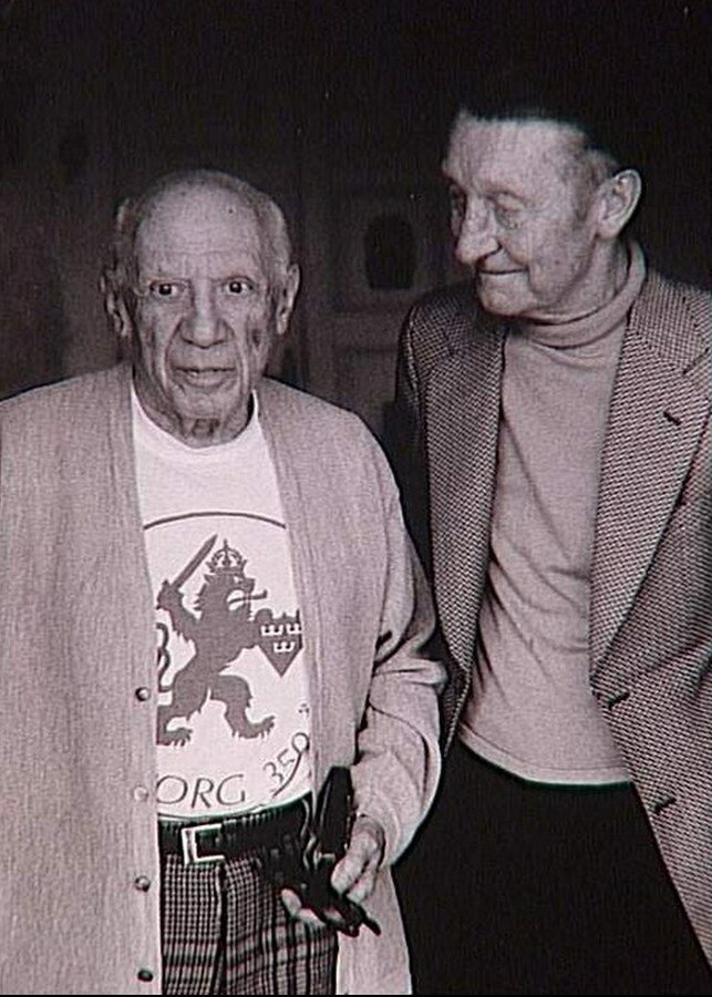 1960-е. Пикассо и  Альберт Скира (издатель)