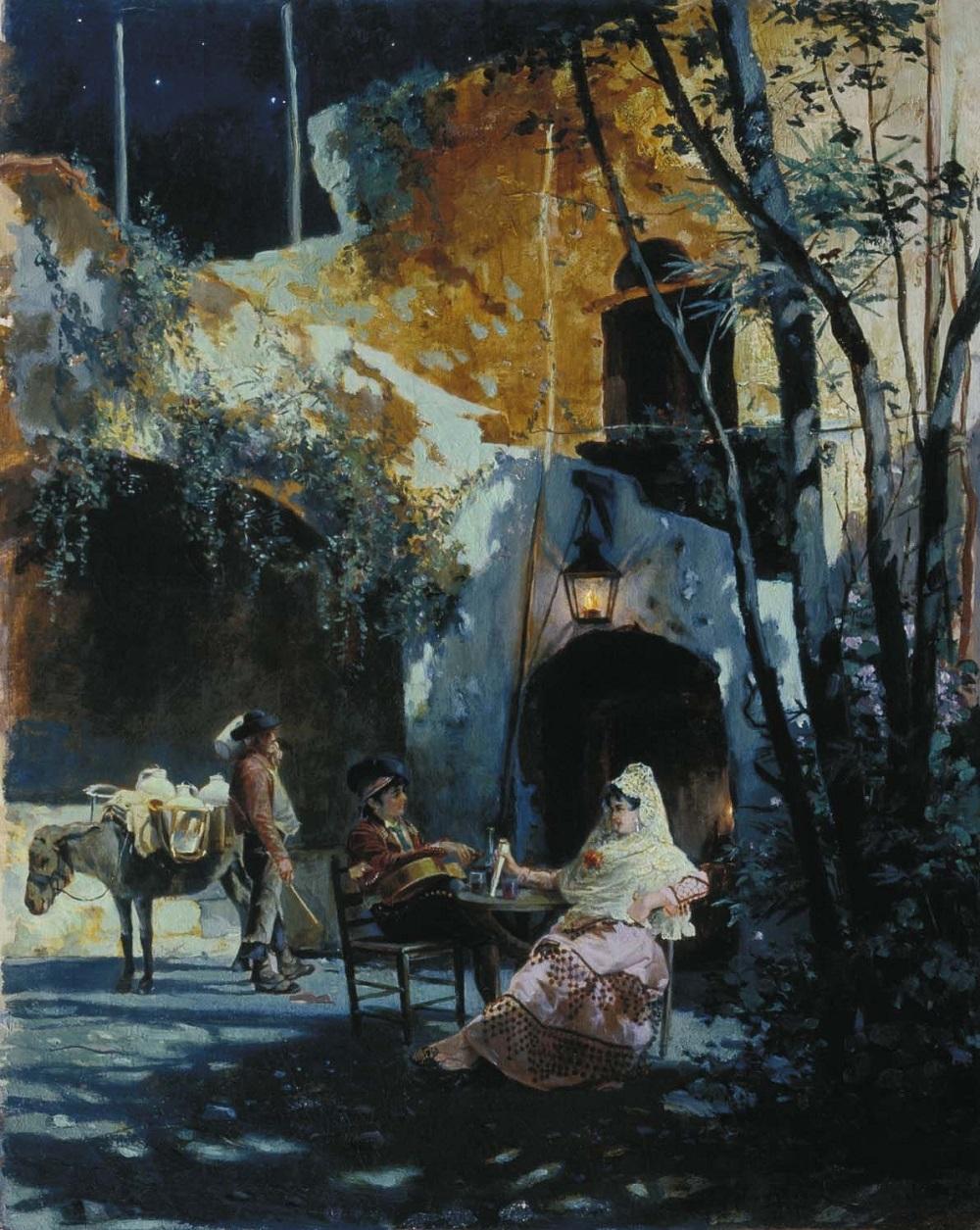 Дворик в Севилье 1891 холст масло 50 х40 Омский областной музей изобразительных искусств им. М.А Врубеля.jpg
