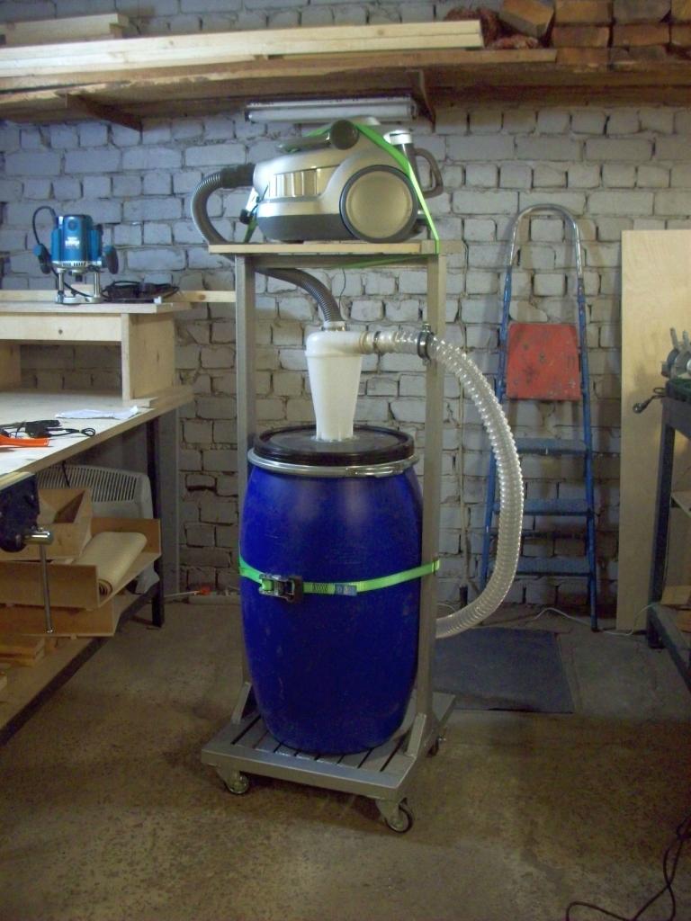 Как сделать пылесос для гаража