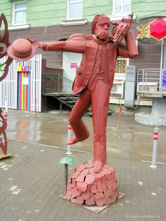 Пермь. Железная скульптура Доброе утро, господин Попов