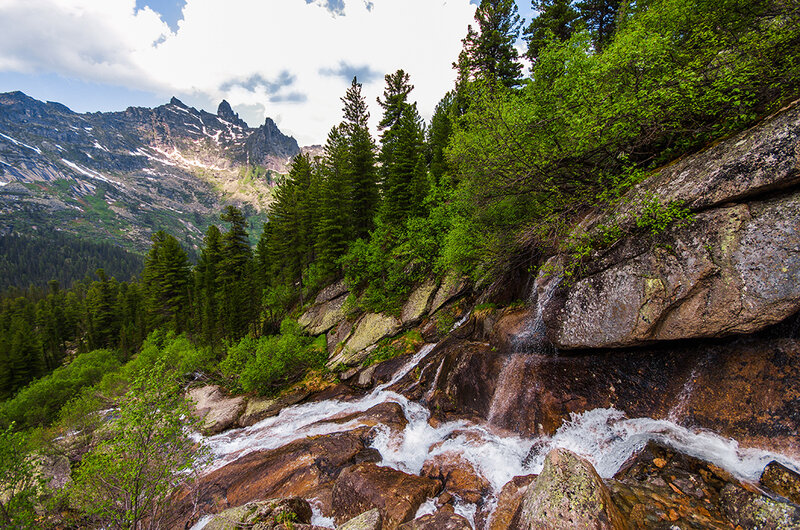 Водопады Ергаков