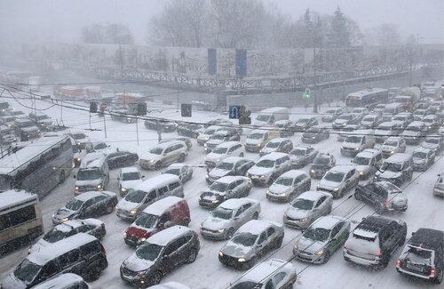 Автомобильная пробка 25 декабря