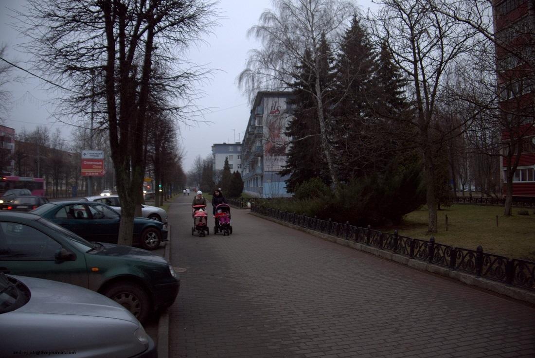 На улицах Новополоцка.