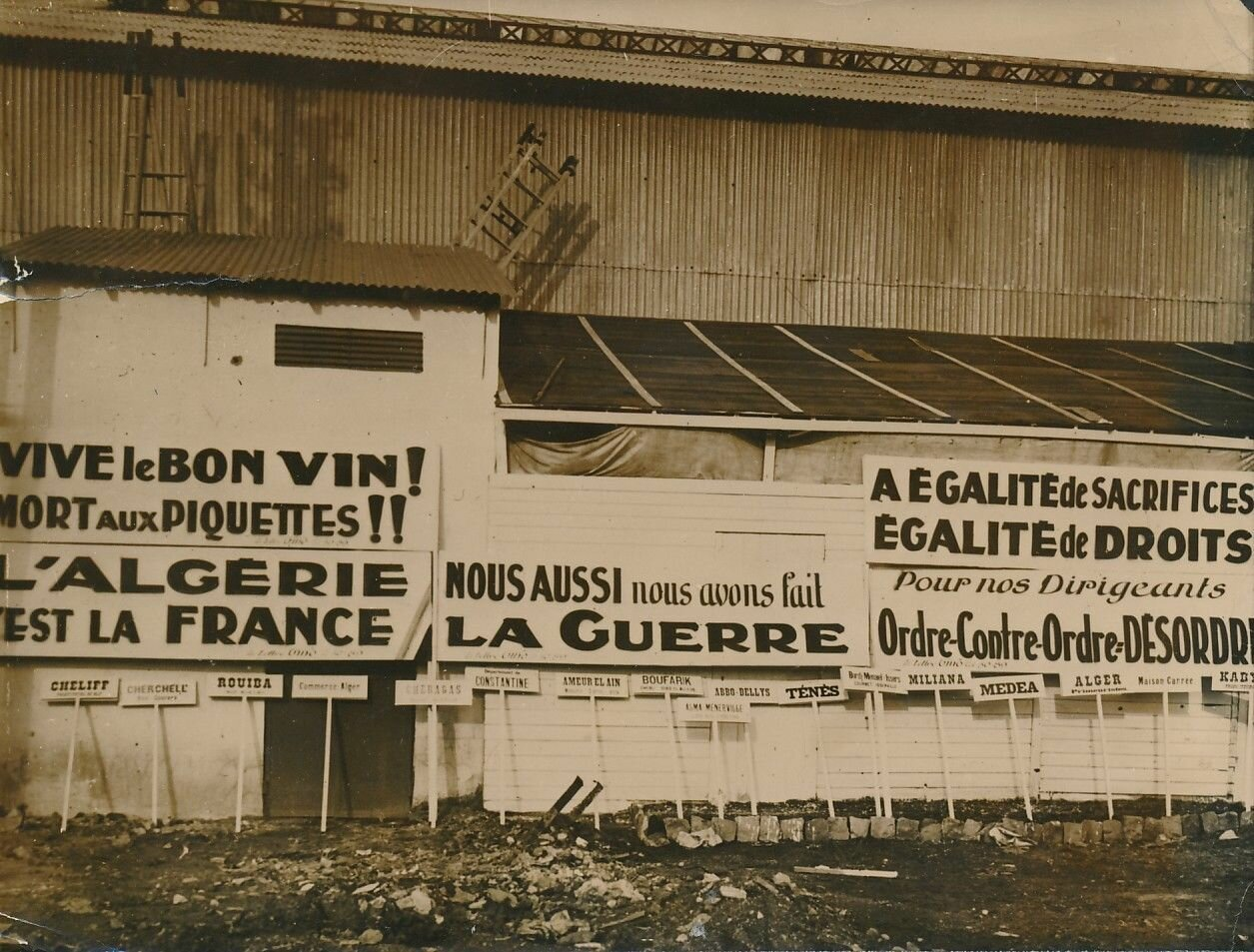 1936. Демонстрация виноградарей Алжира