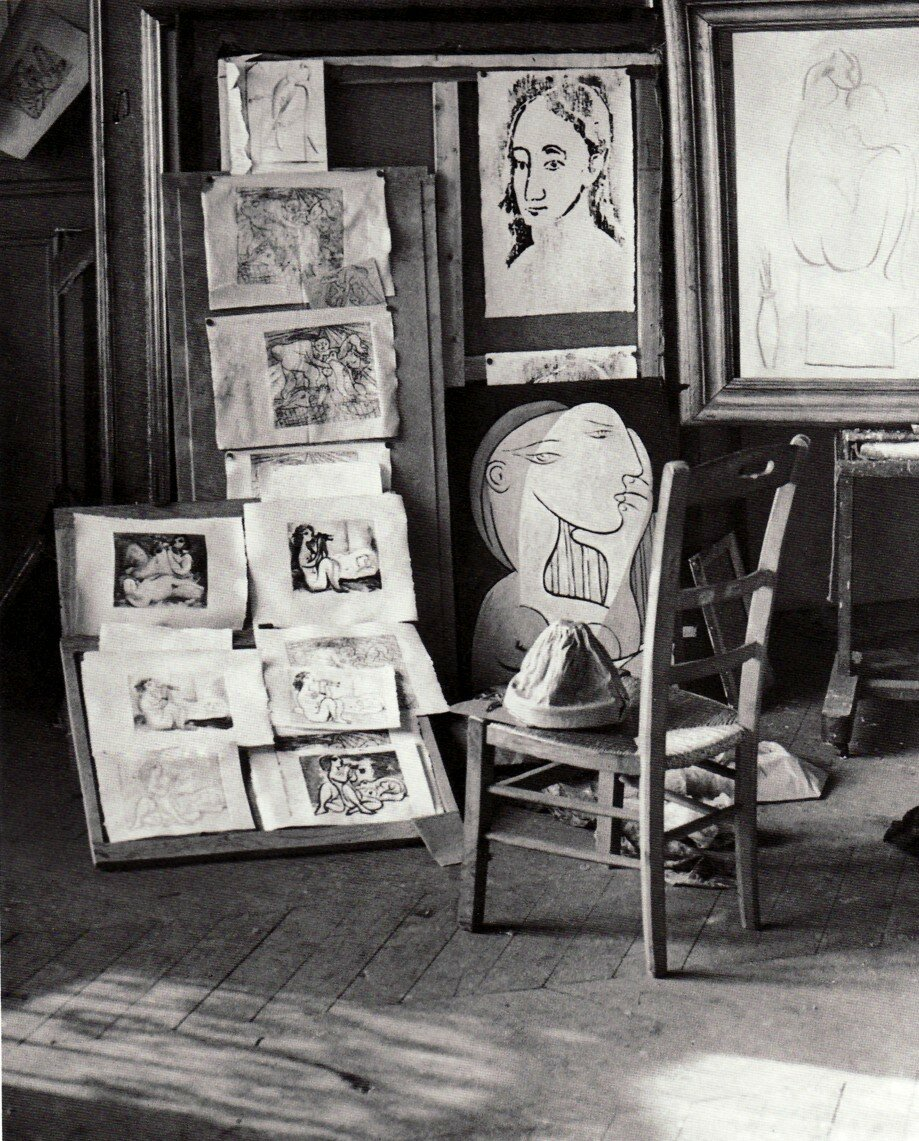 Студия Пикассо, новая работа. Улица Боэти