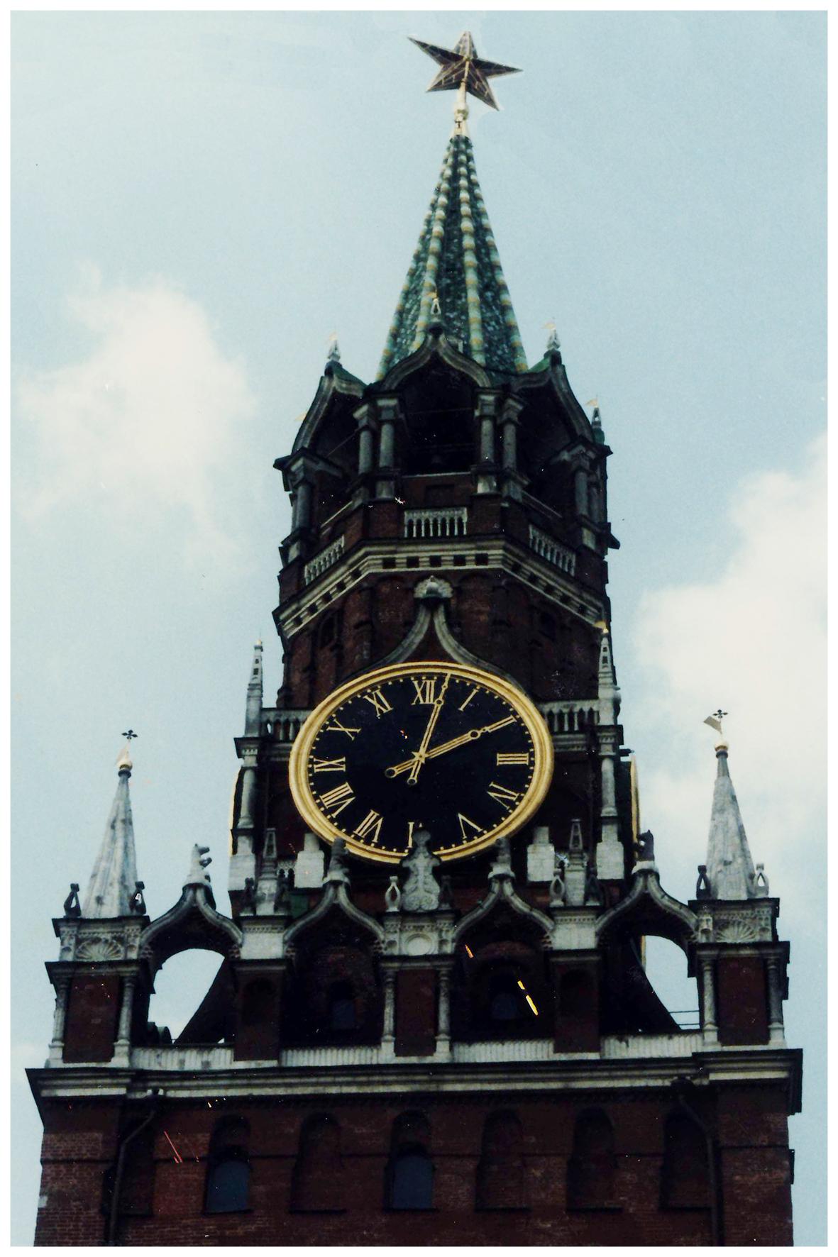 Москва. Часы на Спасской башне