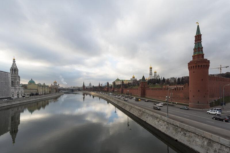 Кремль. Вид с Большого Москворецкого моста
