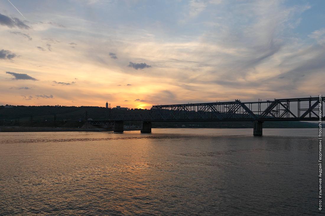 Императорский мост через реку Волгу