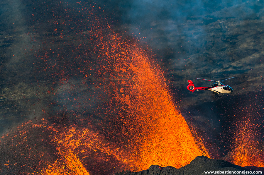 Eruption, piton Fournaise, 2015 mai,