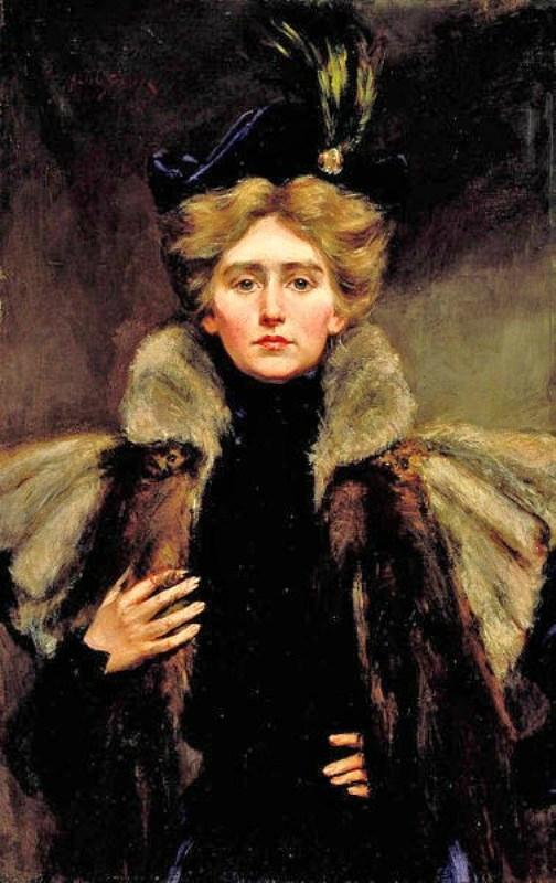 Alice Pike Barney (American artist, 1857–1931) Natalie in Fur Cape 1896.jpg