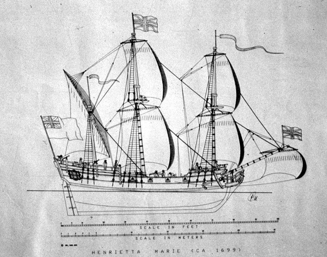 Судно для перевозки африканских невольников Henrietta Marie (1700 год)
