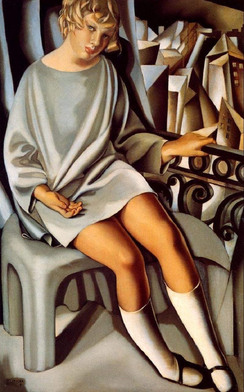 Кизетта на балконе<br ></img>Тамара де Лемпицка · 1927