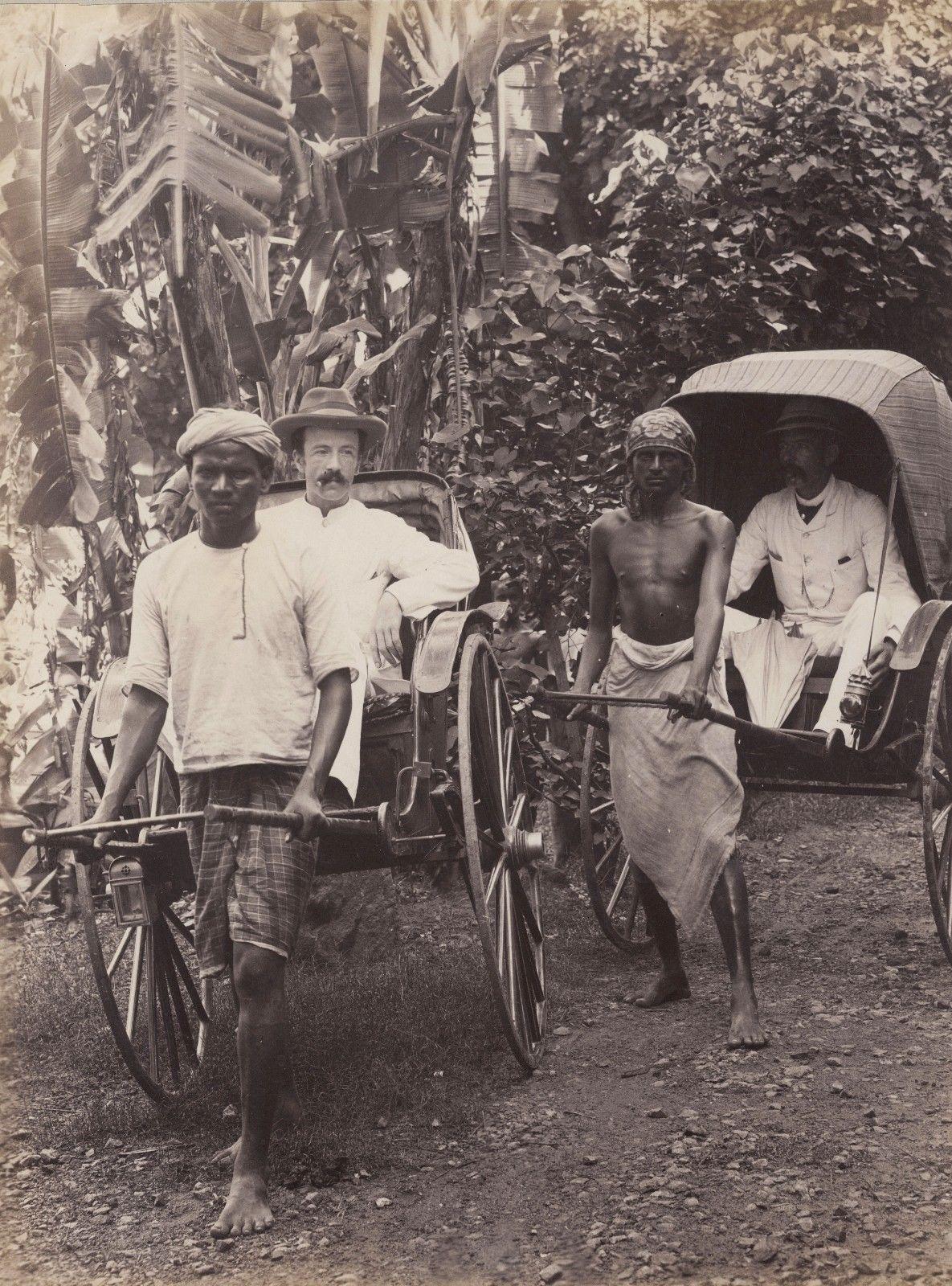 Коломбо. Рикши. 1880