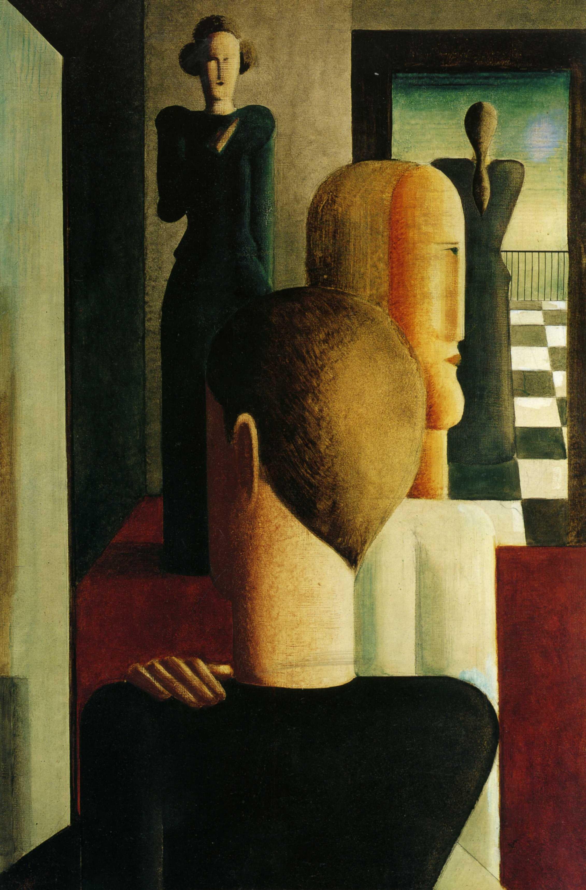 Оскар Шлеммер. Четыре фигуры в комнате 1925