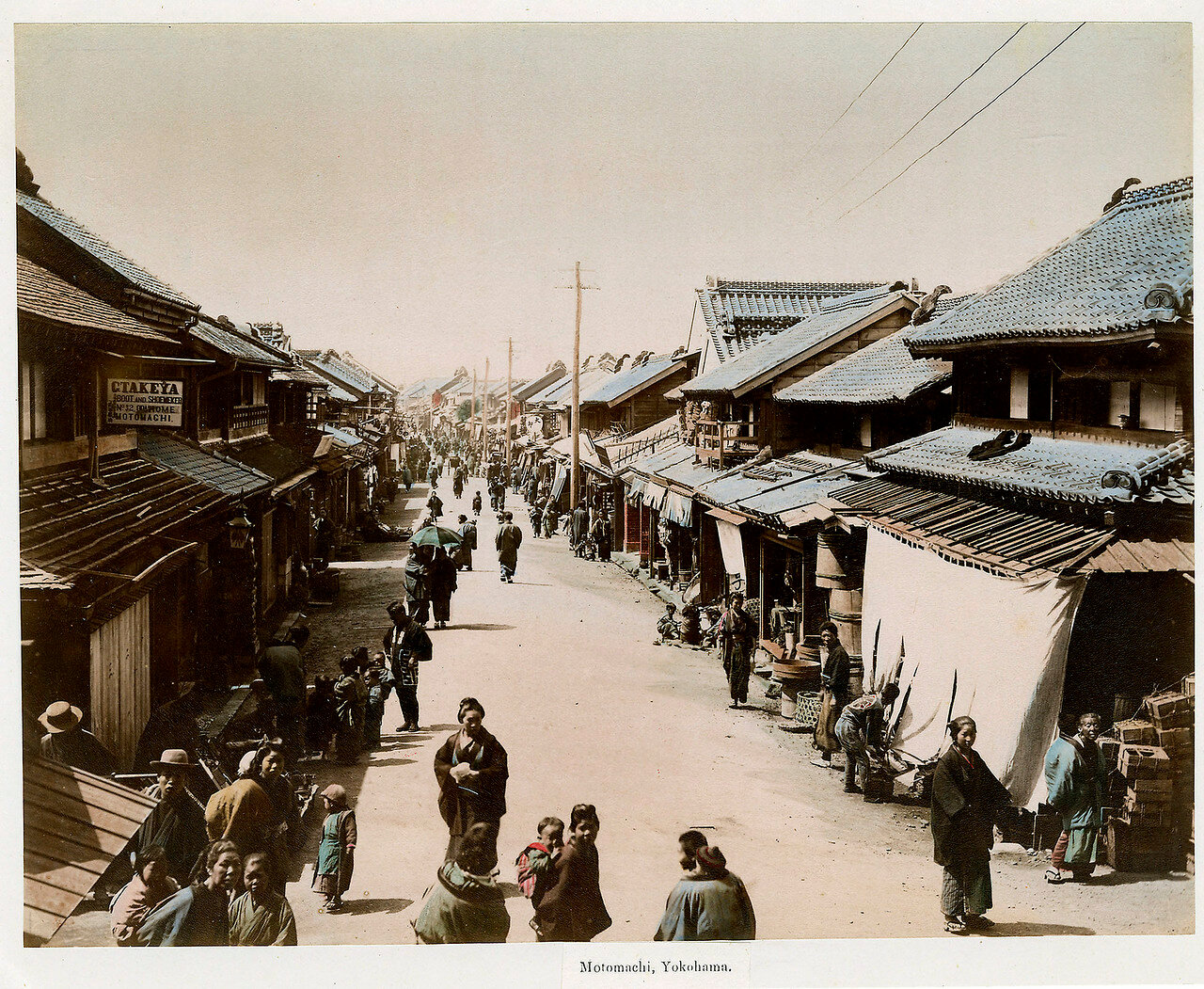 Иокогама. Район Мотомати, 1890