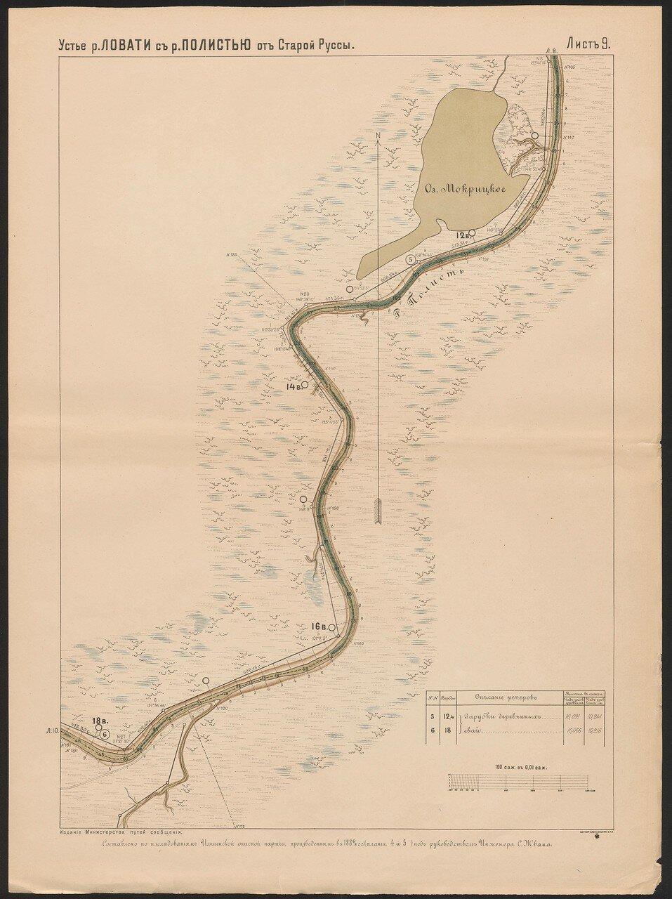 52. Устье реки Ловати с рекою Полистью от Старой Руссы