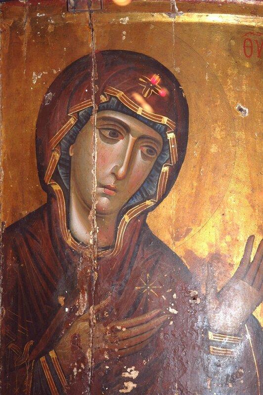 """Икона Божией Матери """"Агиосоритисса"""". Монастырь Св. Екатерины на Синае."""