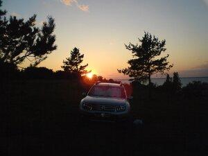 Закат над озером Ильмень в Новгородской области