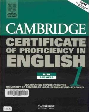 Книга Cambridge Certificate Of Profeciency English