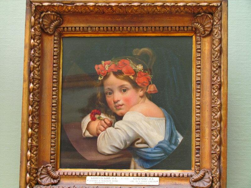 """Орест Кипренский.""""Девочка в маковом венке"""" 1819,холст,масло (ГТГ)"""