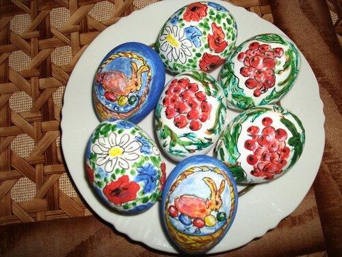 Пасхальная роспись яиц