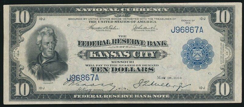 США, 10 долларов, 1915