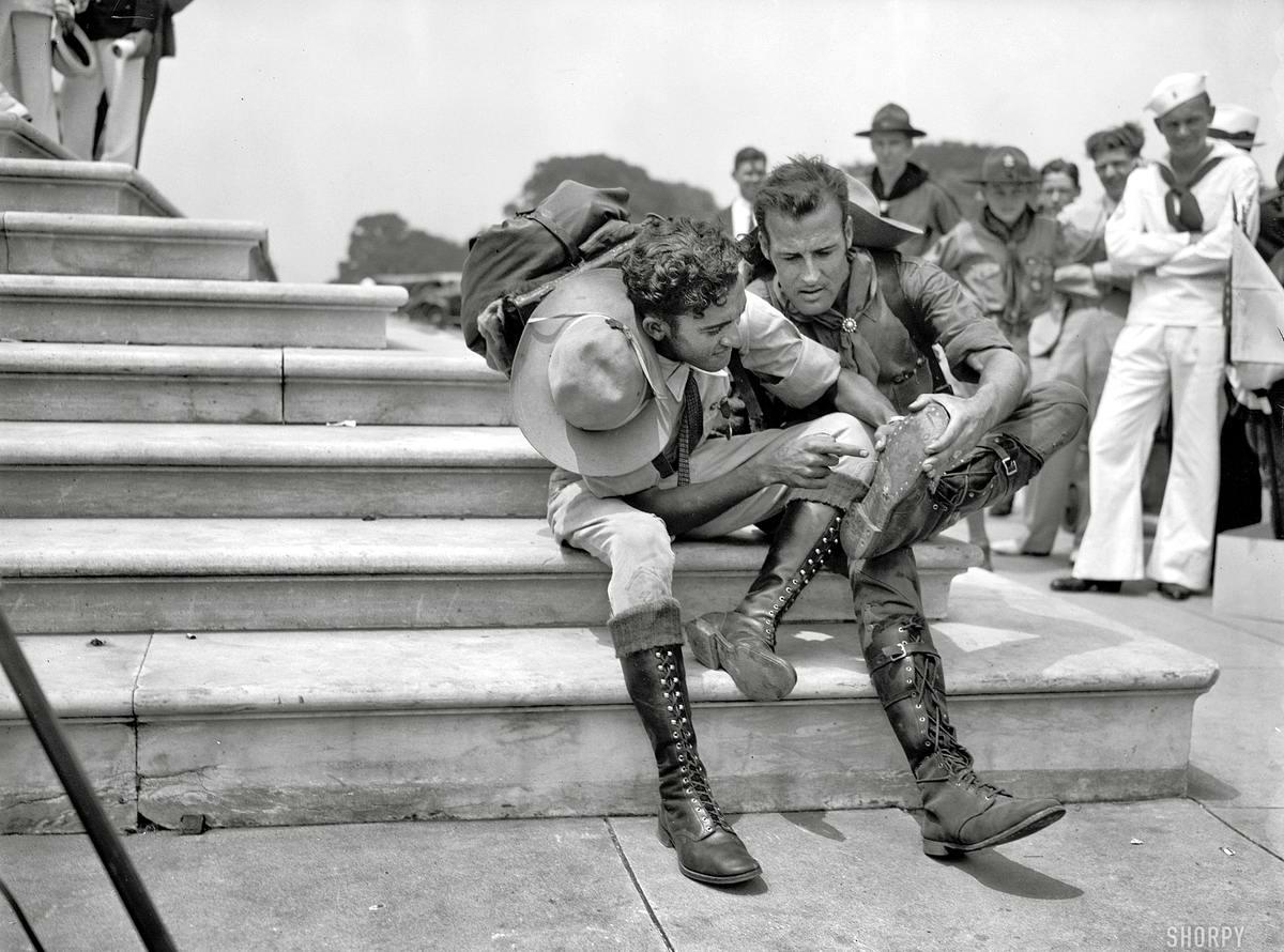 Американские бойскауты начала 20-го века на снимках фотографов (31)