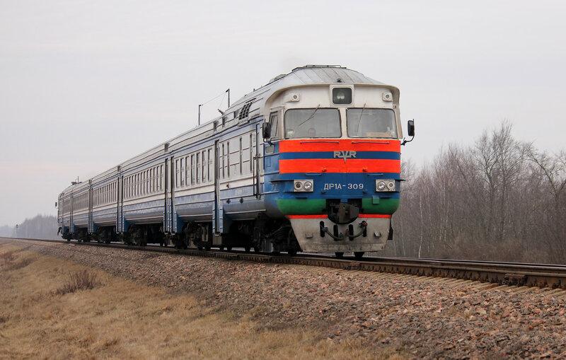 ДР1А-309 на перегоне Молодечно - Пруды