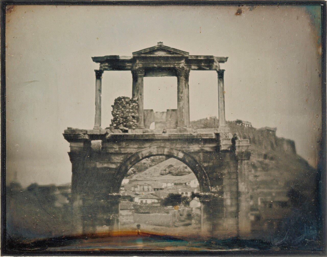 1846. Афины. Арка Адриана