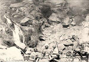 Водопады на реке Аксу. 1894