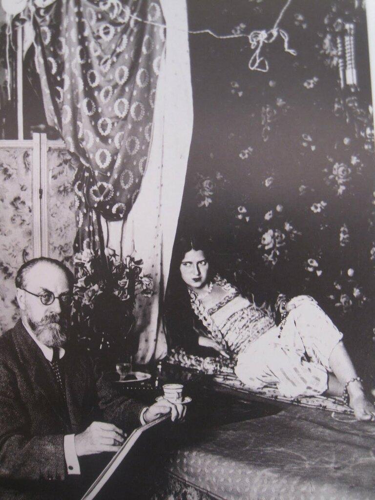Henri Matisse drawing the model Zita as odalisque in his third-floor apartment and studio in Nice, c.1928.jpg
