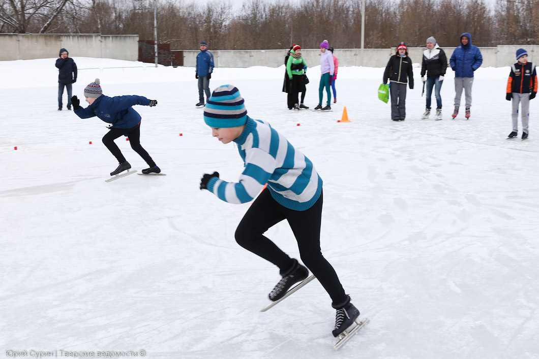 соревнования по конькобежному спорту, Тверь