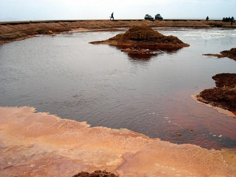 Пустыня Данакиль (Эфиопия) и озеро Ассаль (Джибути) в Африке