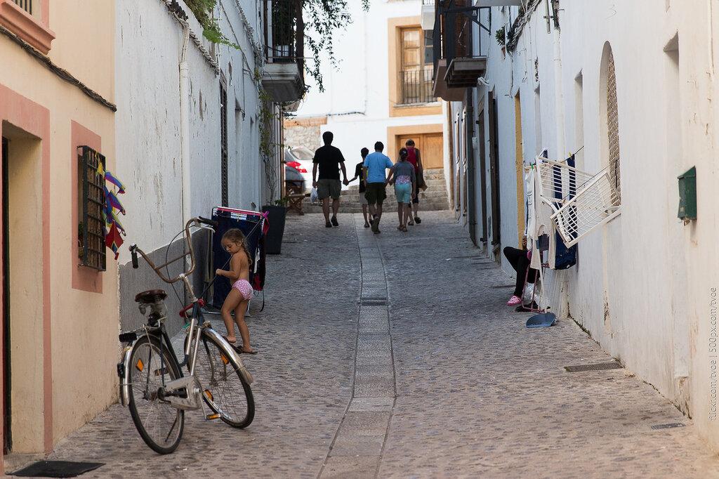 Улица старого Ибица-тауна