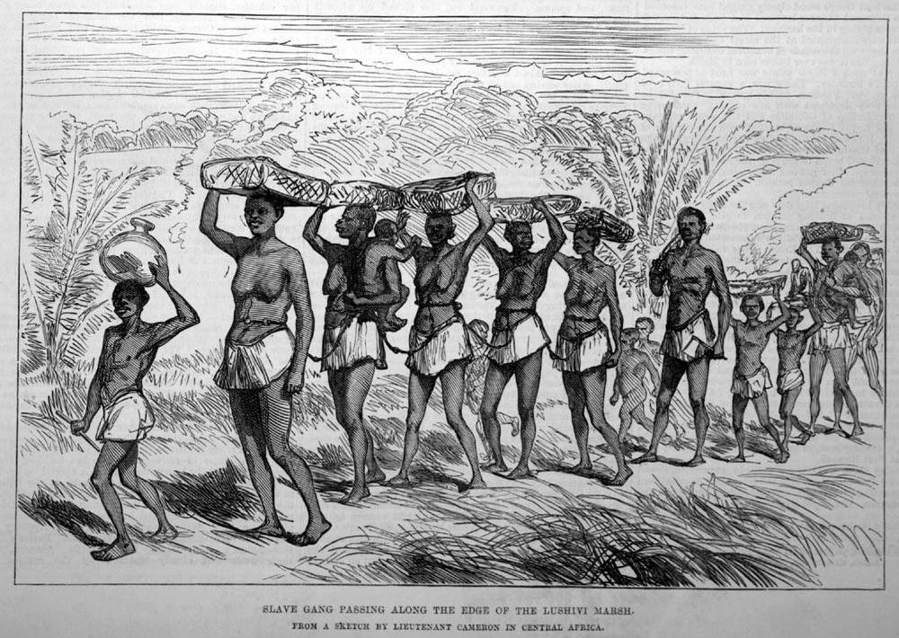 Колонна движущихся рабов (Центральная Африка, 1874 год)