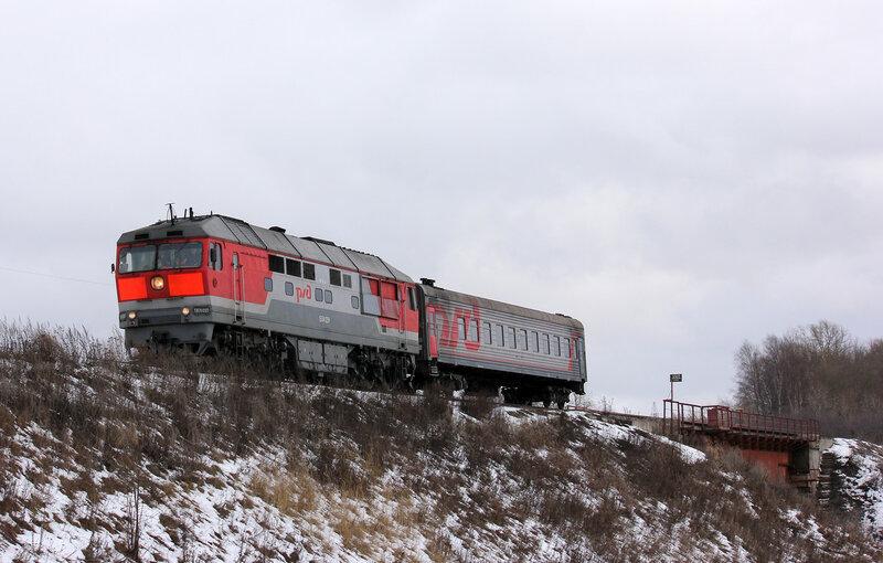 ТЭП70-0123 с пригородом Шаховская-Ржев