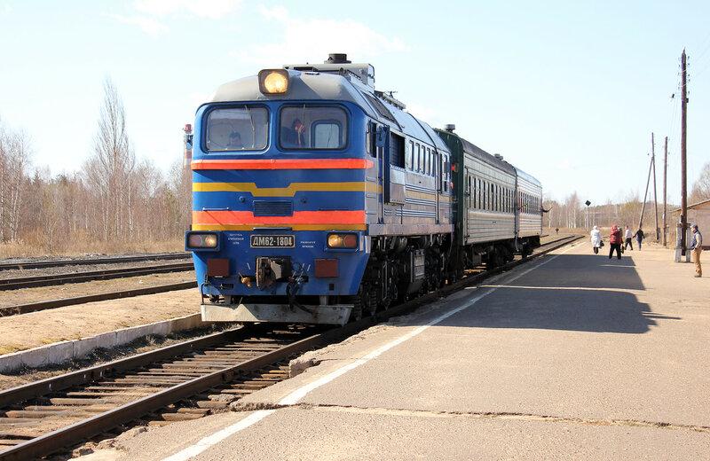 ДМ62-1804 на станции Калязин