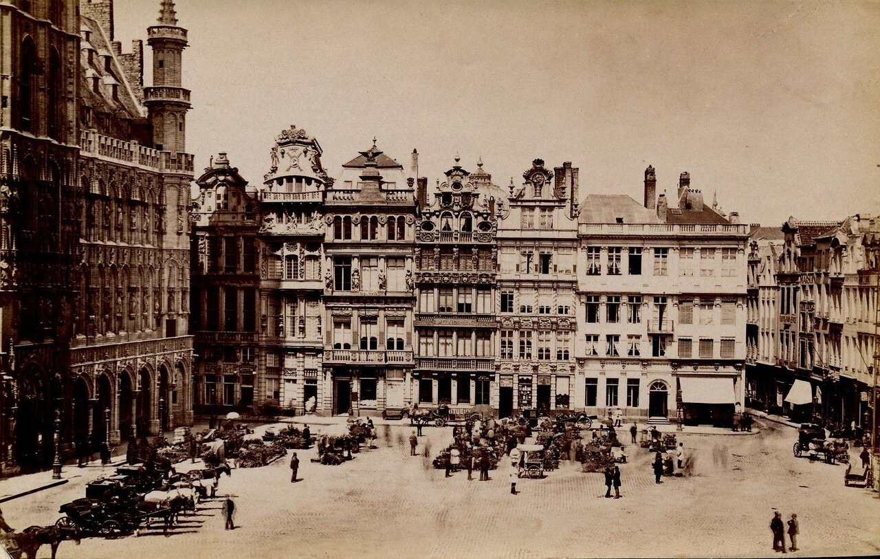Площадь Гран-плас. 1875