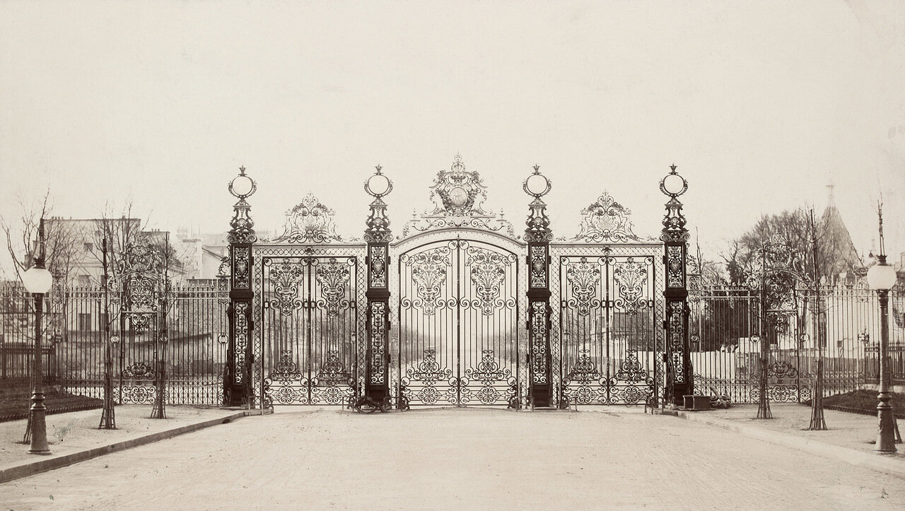Решетка Парка Монсо. 1864