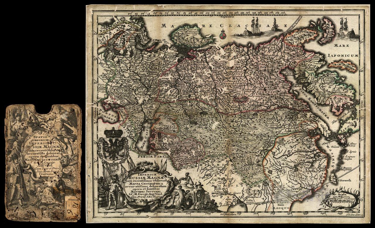 1700-е. Карта Российской империи