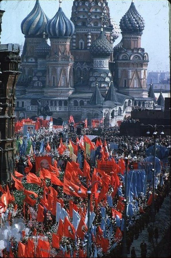 Москва. Первомайская парад на Красной площади